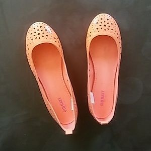 NWOT sz 8 Orange Cutout Flats 🍊